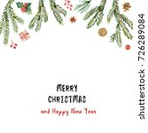 Watercolor Christmas Banner...