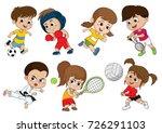 children of various types of... | Shutterstock .eps vector #726291103