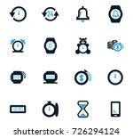 time vector icons for user... | Shutterstock .eps vector #726294124