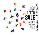 top view people on sale event....   Shutterstock . vector #726294853