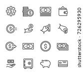 simple collection of cash... | Shutterstock .eps vector #726295930