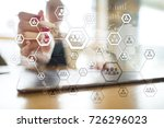 organisation structure chart ... | Shutterstock . vector #726296023