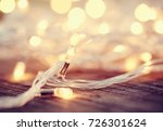christmas garland lights from... | Shutterstock . vector #726301624