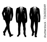 wedding men's suit and tuxedo.... | Shutterstock .eps vector #726303049