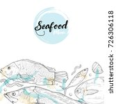 seafood illustration.... | Shutterstock .eps vector #726306118
