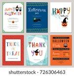 kids halloween cards. vector... | Shutterstock .eps vector #726306463