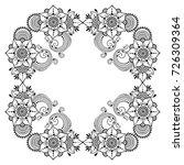 circular pattern in form of... | Shutterstock .eps vector #726309364