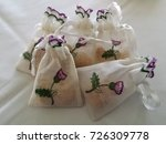 wedding favors   linen sachet   ... | Shutterstock . vector #726309778