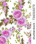 floral seamless pattern. flower ... | Shutterstock . vector #726310273