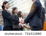 business concept   businessmen... | Shutterstock . vector #726312880