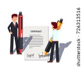 business man people holding... | Shutterstock .eps vector #726313516