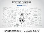 venture capital funding concept ... | Shutterstock .eps vector #726315379
