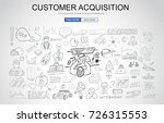 customer acquisition concept... | Shutterstock .eps vector #726315553