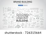 brand building concept with... | Shutterstock .eps vector #726315664