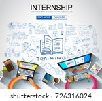 internship concept with... | Shutterstock .eps vector #726316024