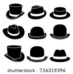 vintage hats icons. vector... | Shutterstock .eps vector #726319396