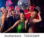 dance party with group people... | Shutterstock . vector #726322669