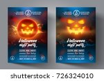 halloween flyer. design... | Shutterstock .eps vector #726324010