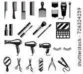 set of beauty salon tools.... | Shutterstock .eps vector #726324259