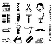 set of barber shop icons.... | Shutterstock .eps vector #726324283