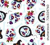 seamless pattern of cartoons...   Shutterstock .eps vector #726324760