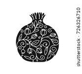 pomegranate ornate  sketch for...   Shutterstock .eps vector #726326710