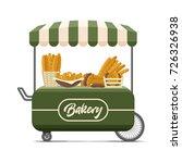 bakery street food cart with... | Shutterstock .eps vector #726326938