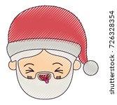 santa claus man kawaii face...   Shutterstock .eps vector #726328354