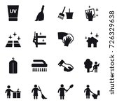 16 vector icon set   uv cream ... | Shutterstock .eps vector #726329638