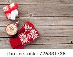christmas background with... | Shutterstock . vector #726331738