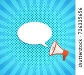 loudspeaker or megaphone icon.... | Shutterstock .eps vector #726335656