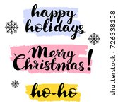 happy holidays  merry christmas ...   Shutterstock .eps vector #726338158