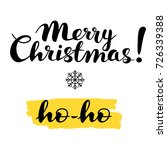 merry christmas  ho ho text ... | Shutterstock .eps vector #726339388