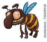 cartoon style smiling crazy bee.... | Shutterstock .eps vector #726339418