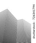 white black color. linear... | Shutterstock .eps vector #726341794