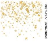 gold flying stars confetti...   Shutterstock .eps vector #726343480