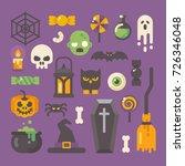 set of halloween items. horror... | Shutterstock .eps vector #726346048