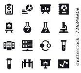 16 vector icon set   report ... | Shutterstock .eps vector #726346606
