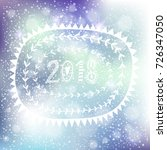 christmas and new year greeting ... | Shutterstock .eps vector #726347050