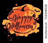 happy halloween lettering for... | Shutterstock .eps vector #726348028