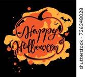 happy halloween hand drawn... | Shutterstock .eps vector #726348028