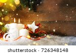 candels with christmas... | Shutterstock . vector #726348148