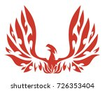 the mythical phoenix spreading...   Shutterstock .eps vector #726353404