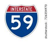 interstate highway 59 road sign | Shutterstock .eps vector #726354970