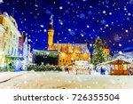 christmas in tallinn. christmas ... | Shutterstock . vector #726355504