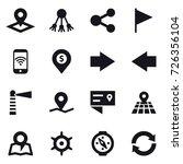 16 vector icon set   pointer ... | Shutterstock .eps vector #726356104