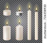 3d set realistic paraffin... | Shutterstock .eps vector #726358930