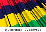 fragment flag of mauritius. 3d... | Shutterstock . vector #726359638