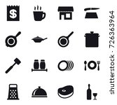 16 vector icon set   receipt ... | Shutterstock .eps vector #726363964