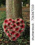 heart shaped sympathy flowers ... | Shutterstock . vector #726367210
